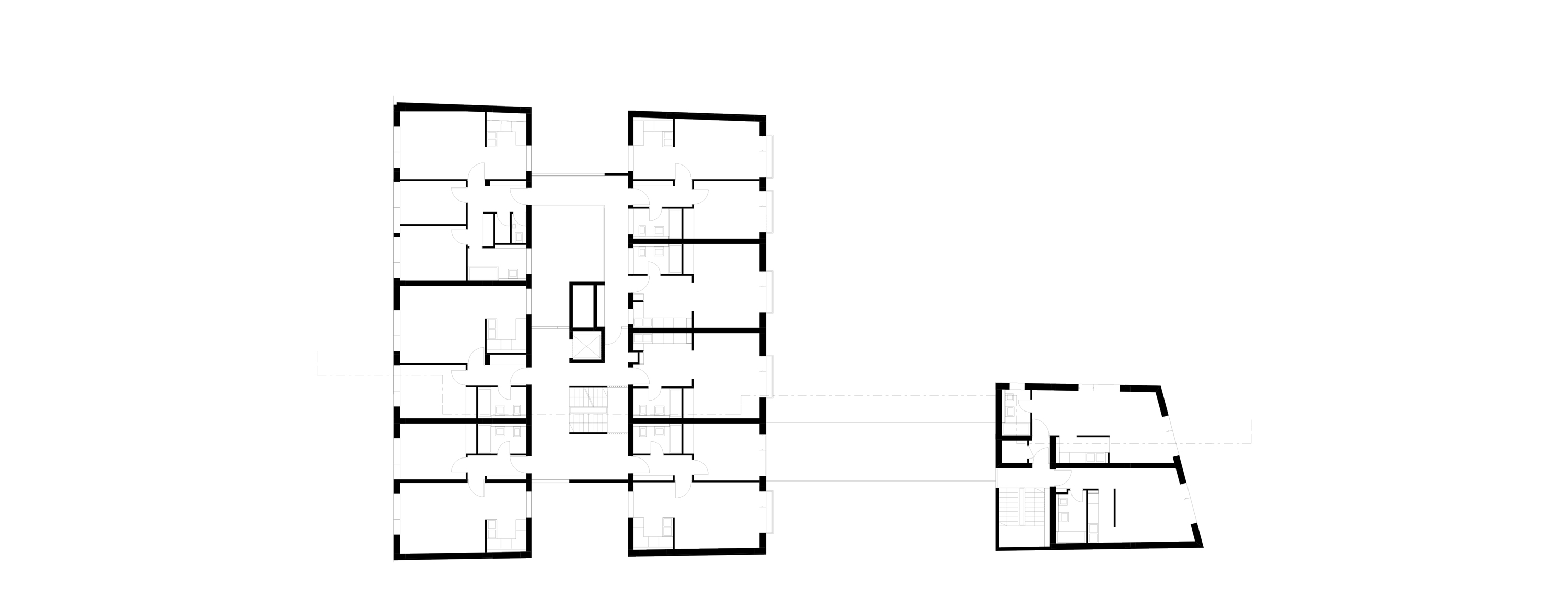 3h architecture apartment building budapest plan