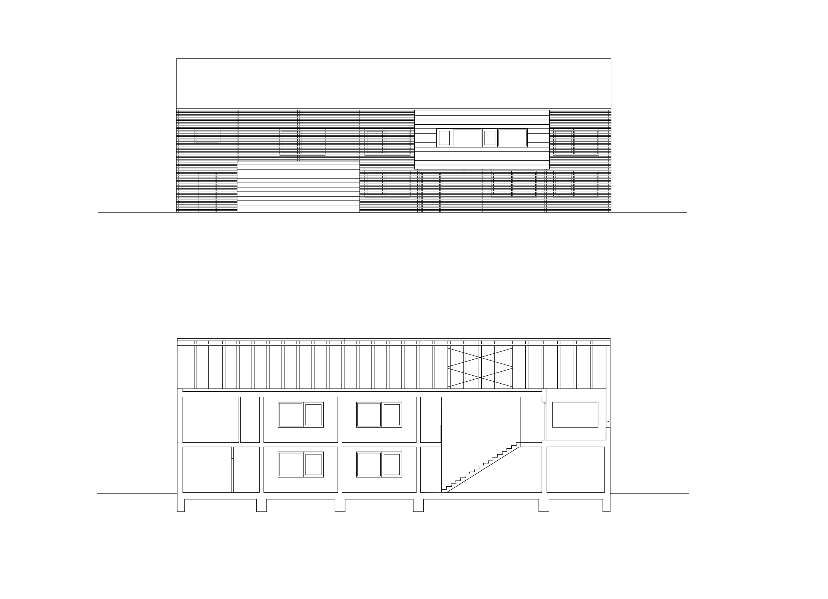 3h architecture accommodation koronco section facade