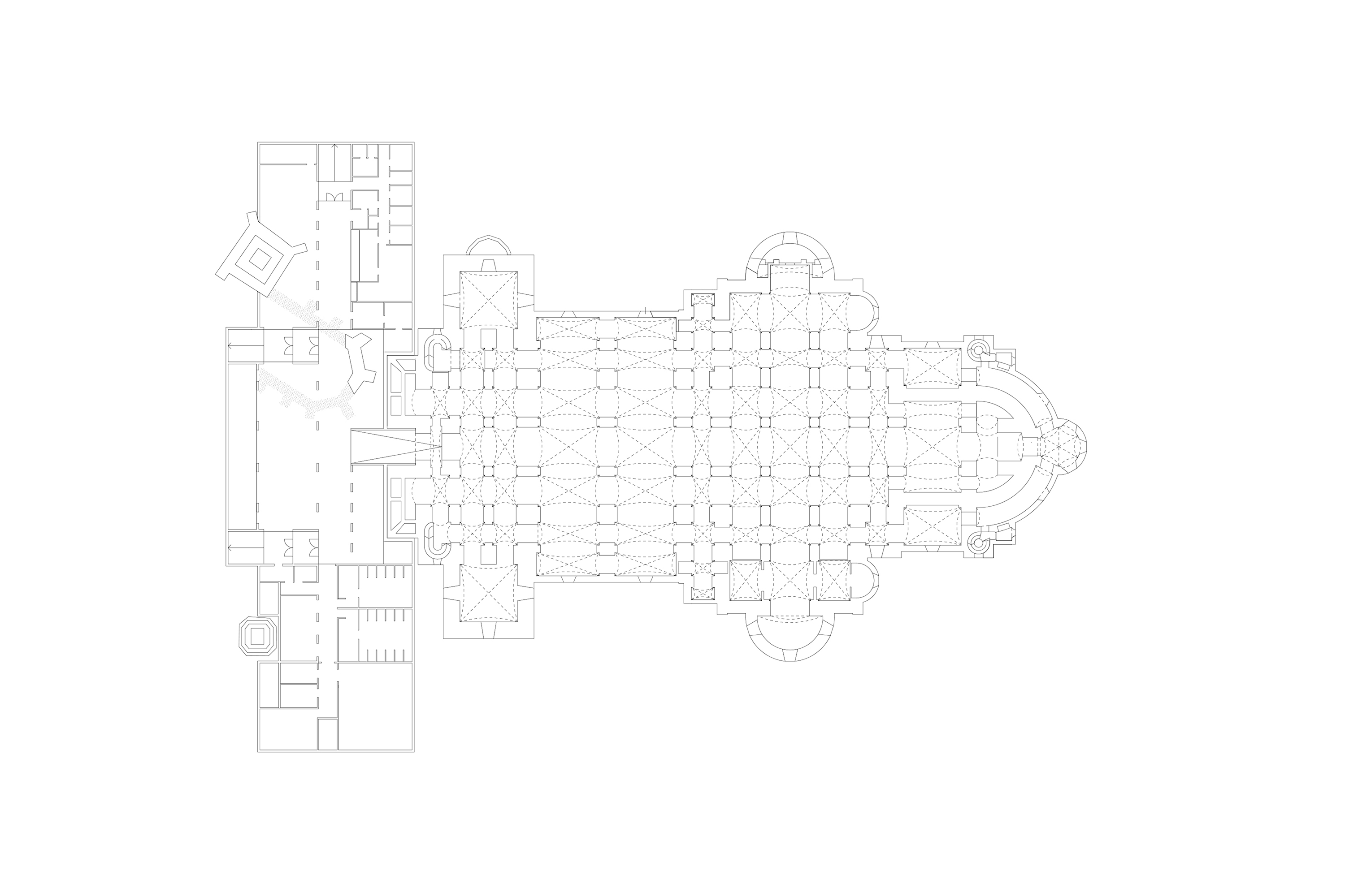 3h architecture cathedral of szeged plan