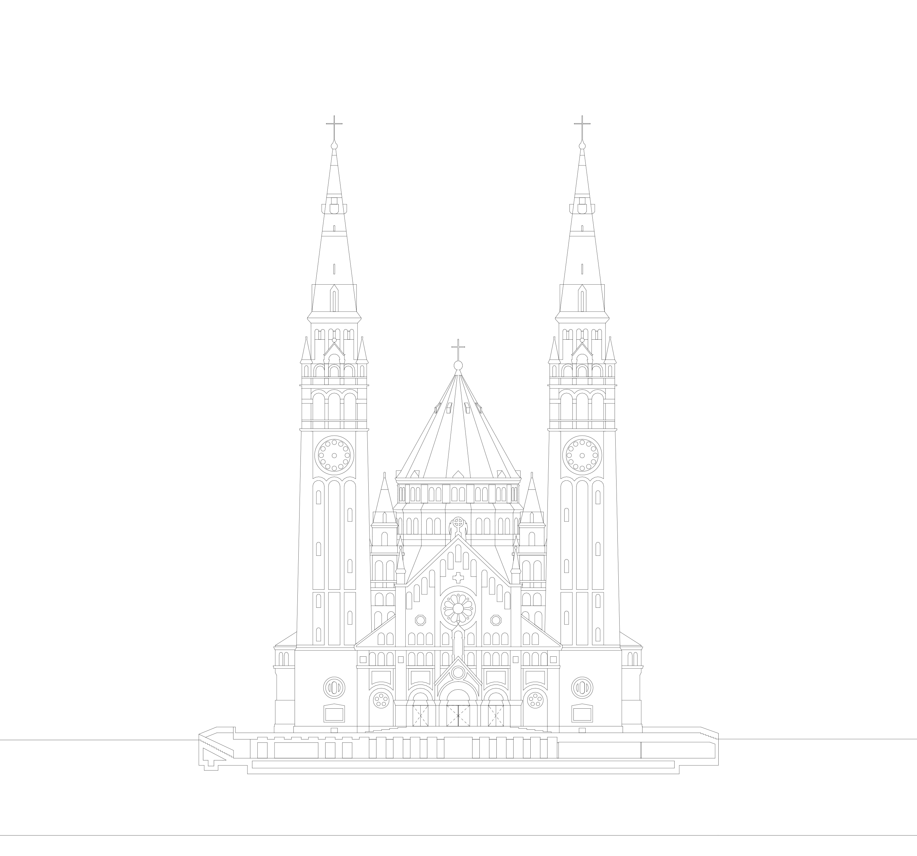 3h architecture cathedral of szeged facade